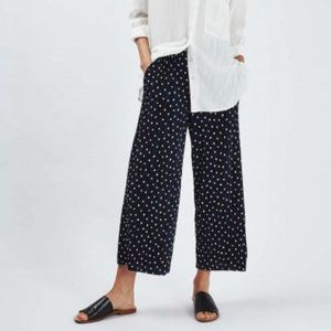Topshop Pleated Crop Dot Trousers